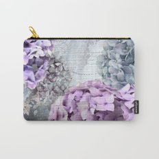 Vintage Flower Hydrangea Hortensia Collage Carry-All Pouch