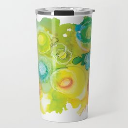 Alcohol Ink - Rainbow Landscape Travel Mug