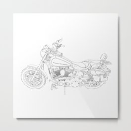 cycle drawing Metal Print