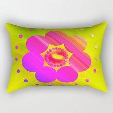 Mandala Pink Daisy Rectangular Pillow