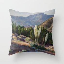 The Sentinels of the California Desert Throw Pillow
