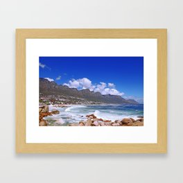 Cape Town, Camps Bay Framed Art Print
