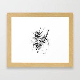 Mobbing Framed Art Print