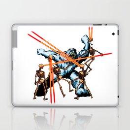 Yeti vs. Laser Skeletons Laptop & iPad Skin