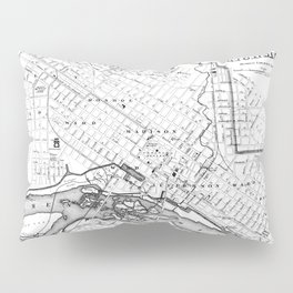 Vintage Map of Richmond Virginia (1884) BW Pillow Sham