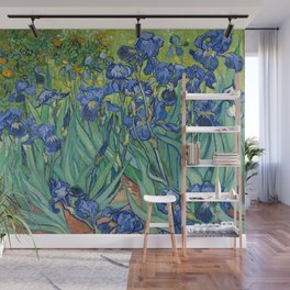 Irises by Vincent Van Gogh, 1889 Wall Mural