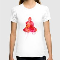 buddhism T-shirts featuring Red Buddha Watercolor art by Thubakabra
