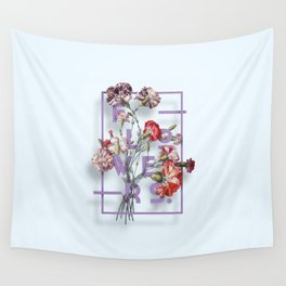 Flowers Bloom Botanicals Vintage Illustration Poster #3 Wall Tapestry