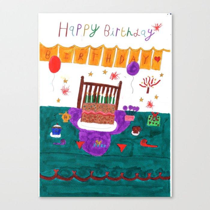Happy Yummy Birthday Canvas Print