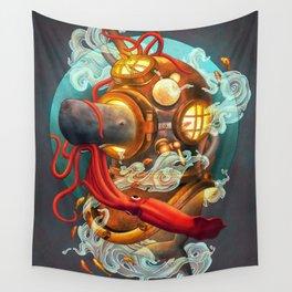 Deep Sea Diver Wall Tapestry