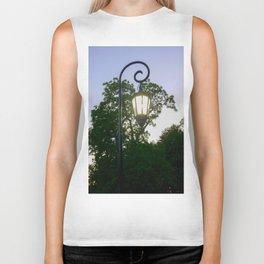 Sunset Lamppost Biker Tank