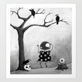 Little Lulu- Swing Time Art Print