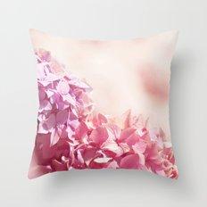 Dreamy pink hydrangea - Flower - Floral Throw Pillow