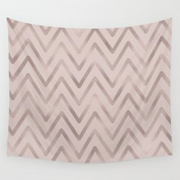 Mauve pink faux rose gold modern geometrical Wall Tapestry
