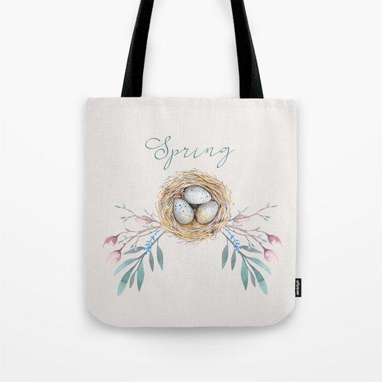 spring nest Tote Bag