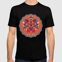 Fantasy Fox Fawn - Folk Art T-shirt