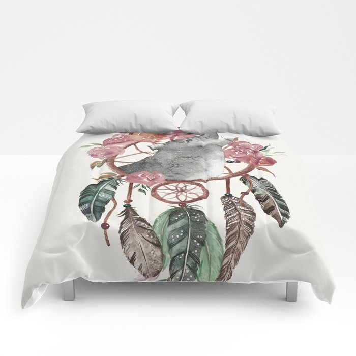 Dream Catcher Comforter Stunning Wolf Dream Catcher Comforters By Nadja600 Society60
