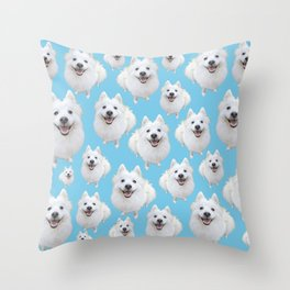 so many montys! Throw Pillow