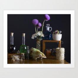 The Alchemist's Table Art Print