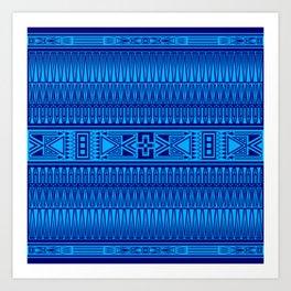 The Gathering (Blue) Art Print