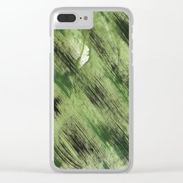 Abstract green painting Clear iPhone Case