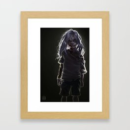 Zombie Boy (#Drawlloween2016 Series) Framed Art Print