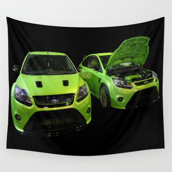 Two Green Focus RS Wall Tapestry