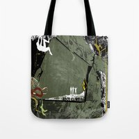 climbing Tote Bags featuring Rock Climbing by Robin Curtiss