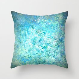 Scratched Blue Steel Throw Pillow