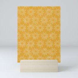 Sun pattern Mini Art Print