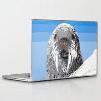 walrus Laptop & iPad Skins featuring Walrus by wingnang