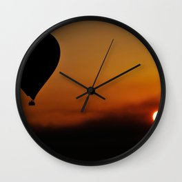 Early morning Balloon flight over the West Bank in Luxor - Egypt Wall Clock