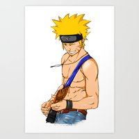 naruto Art Prints featuring naruto by immiggyboi90
