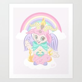 Baphomet Baptism by Fire Art Print