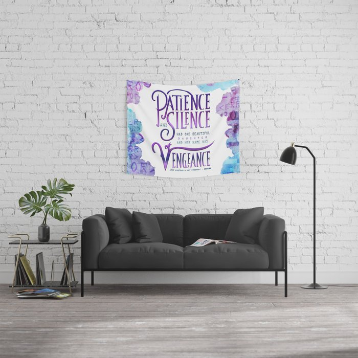PATIENCE AND SILENCE Wall Tapestry