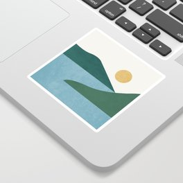 Sunny Lake - Abstract Landscape Sticker