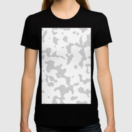 Large Spots - White and Light Gray T-shirt
