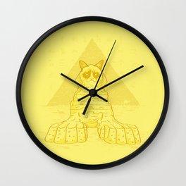 Grumpy Sphinx Wall Clock