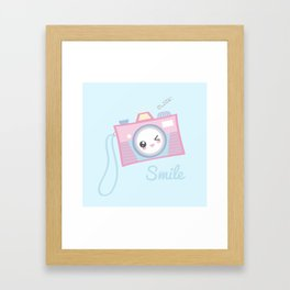 Camera Kawaii Framed Art Print