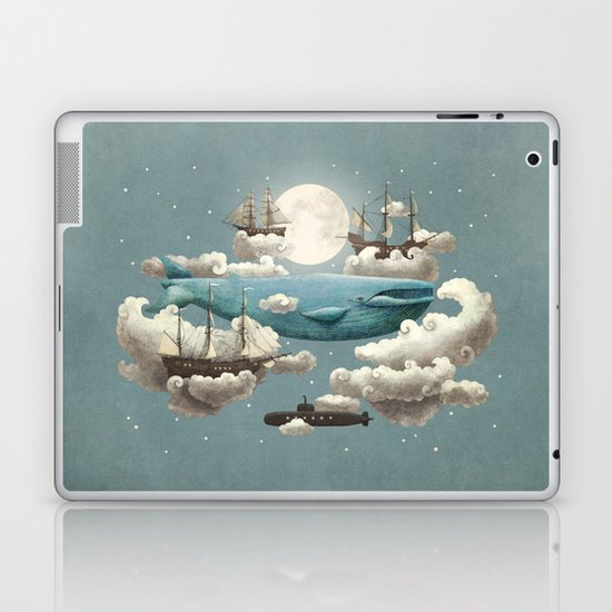 Ocean Meets Sky - colour option Laptop & iPad Skin