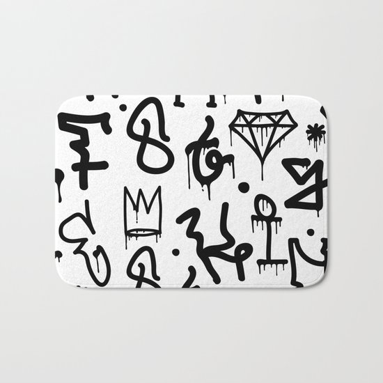 Diamonds & Crowns Bath Mat