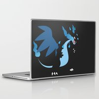 charizard Laptop & iPad Skins featuring Mega Charizard X PKMN by Rebekhaart