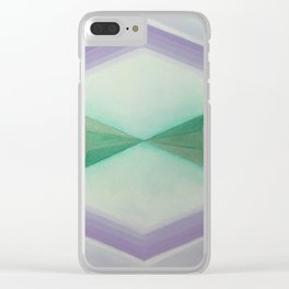 "Unnamed Series No. 8 ""Light Blue"" Clear iPhone Case"