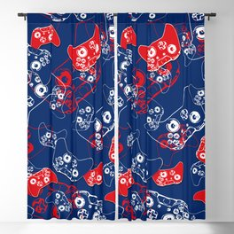 Video Game Red White & Blue 2 Blackout Curtain