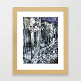 Ice Sword and Shield Carving at Icestravaganza, 2017 Framed Art Print