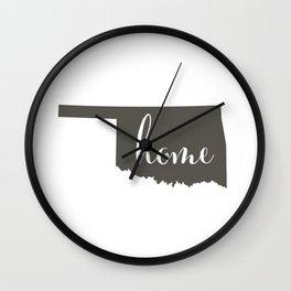 Oklahoma is Home Wall Clock