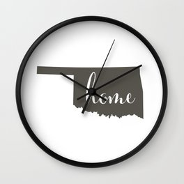 Oklahoma is Home Wall Clock