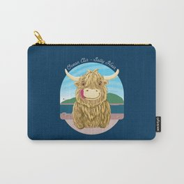 Scottish Highland Cow With Ocean Salty Hair Carry-All Pouch
