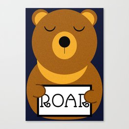 Hear the roar Canvas Print