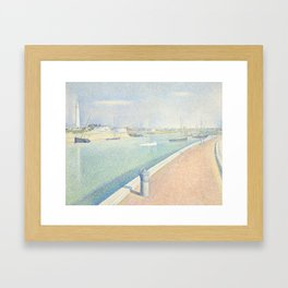 Georges Seurat - The Channel of Gravelines Framed Art Print